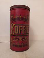 Antik nagy méretű kávé kávés fém doboz