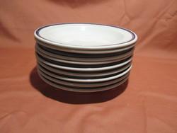 9 db retro Alföldi dupla kék csíkos mély tányér