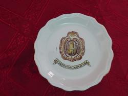 Aquincum porcelán asztalközép, Mosonmagyaróvár felirattal.