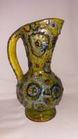 Rücskös retro kerámia kancsó - váza