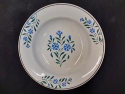 Népi fali dísztányér, Wilhelmsburg keménycserép tányér