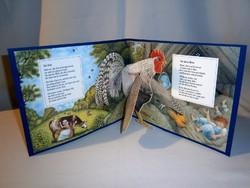 Német nyelvű gyermek verses füzet 3D-s kakassal