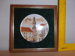 Emlék  plakett Sopron képpel eladó