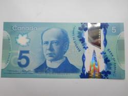 Kanada 5 dollár 2014  UNC  Polymer