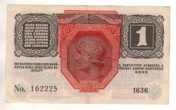1 korona 1916 osztrák bélyegzés 2.