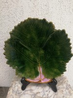 Leveles majolika kínáló asztalközép Eichwald színes kerámia, gyümölcs kináló!