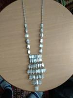 Antik art deco  stílusú üveg nyaklánc női ékszer antique necklace 1920 art deco style