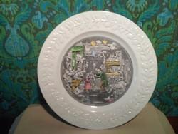 Festett angol porcelán tányér . Wedgwood