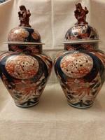 Antik keleti fajansz fedeles váza