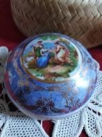 Alt Wien cseh porcelán bonbonier ékszertartó a ,XX.szd első feléből