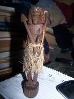 Indián szobra- faragott fa
