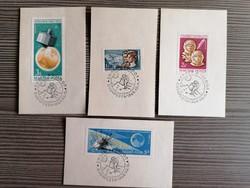 Űrhajós bélyegek emlékbélyegzéssel!