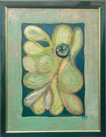 ÍGÉRET, REMÉNY, HARMÓNIA. 44X34cm-es fényre változó színű kép Károlyfi Zsófia Prima díjas alkotótól.
