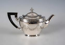 Ezüst teáskanna copf stílusú mintával