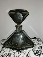 Art deco MOSER Füst színű kvarc  kristály  palack