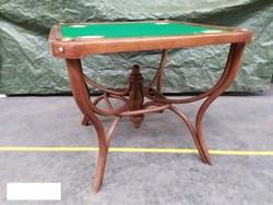 Antik Seltenheit thonet gebogen Möbel Spiel Tisch hajlított ritkaság kártyjáték asztal Leárazva