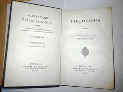 Shakespeare: Coriolanus, 1899