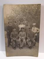 Katonák csoportkép fotó 1917