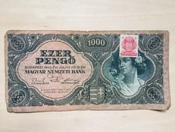 Ezer Pengő 1945 dézsma - bélyeggel