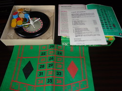 ROULETTE Plasticart játék dobozában!  '80-as évek  Made in GDR