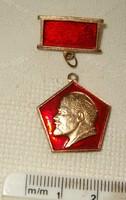 Lenin kitüző komunista jelvény talán szovjet stílustalanságából gondolom kádár barokk KIÁRUSÍTÁS 1ft