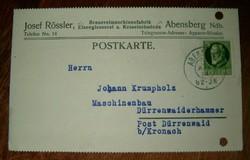 1914 Berlin képeslap Agensberg Bayern bélyegzővel mashinenfabrik 5 pfening bélyeggel KIÁRUSÍTÁS 1 ft
