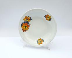 Alföldi porcelán mély tál kínáló tál retro virágmintás Bella virág virágos tál tányér