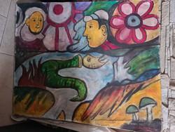 Balázs jános szignós festmény,nagy méretű