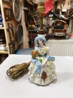 Régi német porcelán lámpa