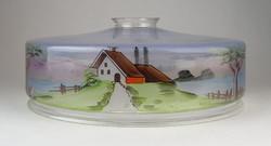0O080 Antik kézzel festett lámpabura 25 cm