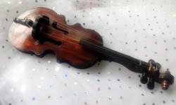 Kis hegedű cselló dekoráció 25cm