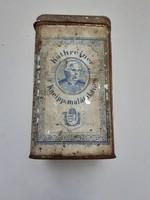 Régi Kathreiner Kneipp malátakávé fémdoboz Franck Henrik Fiai R.T. kávés doboz