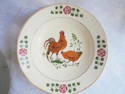 Gránit porcelán kakasos fali tányér