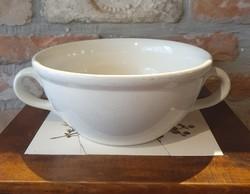 Antik porcelán füles tál