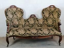 Antik neobarokk kanapé, szófa.