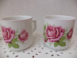 Zsolnay rózsás kávés csésze 2