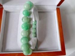 KVARC zöld (festett) ásvány karkötő