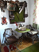 Szarvasagancs bútor-különlegesség eladó kastélyok, vadászházak berendezéséhez