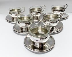 Új állapotú hatszemélyes ezüst kávéskészlet.