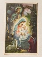 Régi karácsonyi képeslap 1939 Szentcsalád angyalos levelezőlap