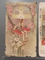 Régi mini szecessziós szentkép 5 db