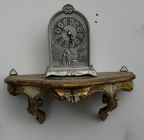aranyozott falipolc, fali óratartó szobor tartó posztamens! Dekoratív mutatós elég darab.Barokk, ro