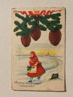 Régi karácsonyi képeslap 1941 népviseletes levelezőlap