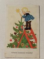 Régi karácsonyi képeslap 1940 levelezőlap