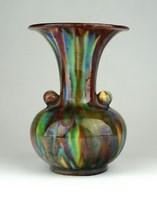 1C211 Régi Badár Balázs mezőtúri kerámia váza díszváza 12 cm
