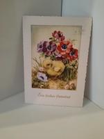 Régi  szép hibátlan húsvéti  képeslap