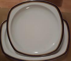 Antik B. BLOCH & CO. / EICHWALD  német porcelán, jelzett, pecsenyés, húsos kínáló tál 30 és 39 cm es