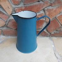 4 literes ritka  zománcos mosdókancsó, kék kancsó