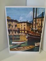 Német képeslap olaszországi kikötői látképpel.