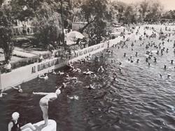 Régi képeslap 1965 Hajdúszoboszló strand